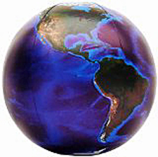 """Earth: the Blue Marble 36"""" Inflatable Globe Z"""