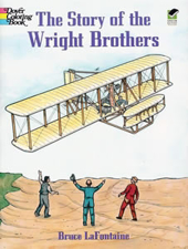 Story of the Wright Brothers Coloring Book