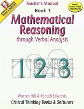 Mathematical Reasoning through Verbal Analysis Book 1 Teacher Manual Z